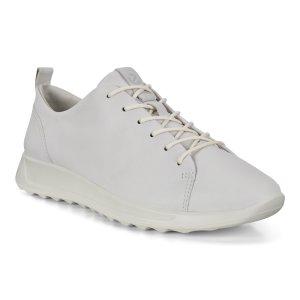 ECCO女士纳帕牛皮小白鞋