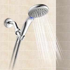 $15Schon 1-Spray LED Temperature Screen Handheld Showerhead in Chrome @ The Home Depot