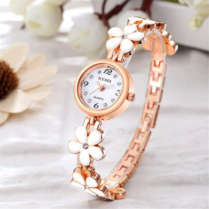 $9.49O.T.Sea Rose Gold Flower Bracelet Watches