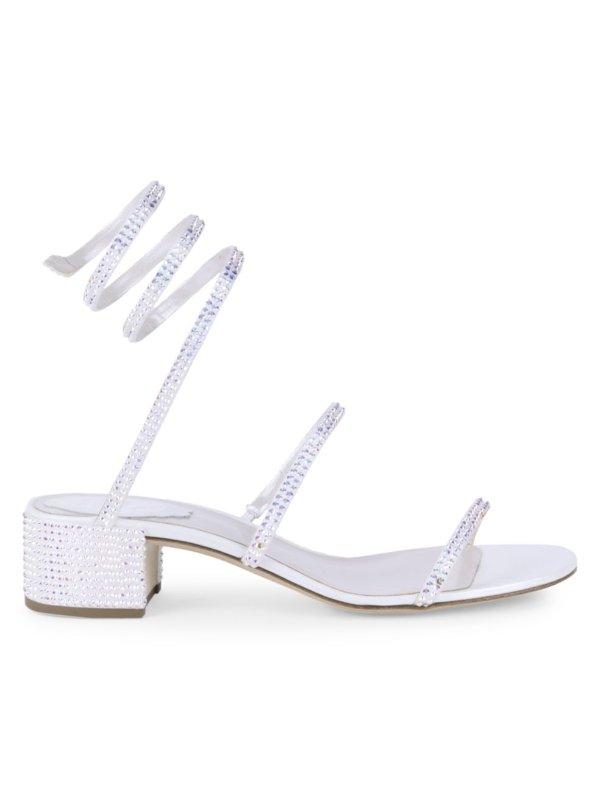 蛇环水晶高跟鞋