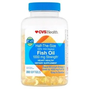 Half the Size Fish Oil Softgels 1000mg