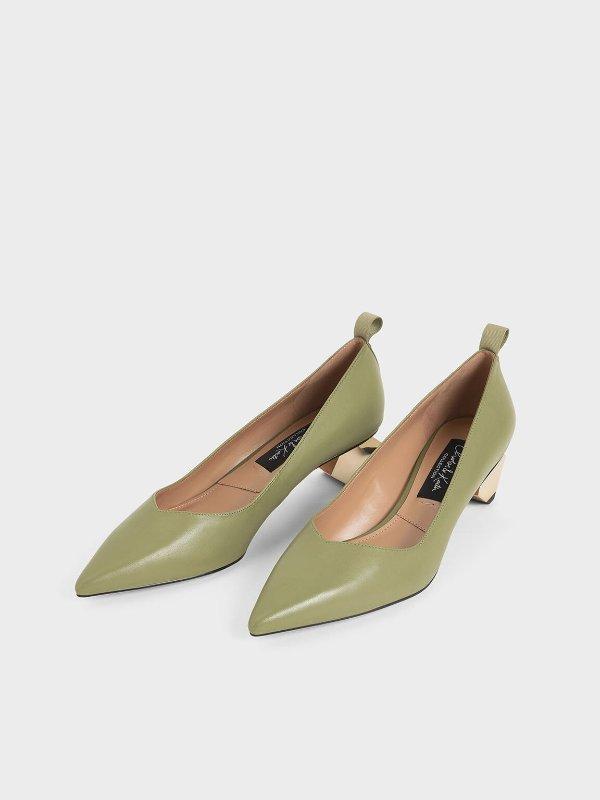 异形跟气质单鞋