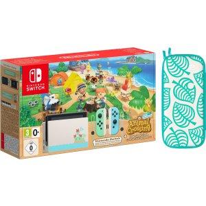 断货王速收!折后仅€373.9手慢无:Nintendo Switch 动物森友会限定主机 买赠收纳包