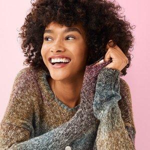 正价毛衣买1送1+满$100减$20LOFT Outlet 精美正价毛衣特价热卖