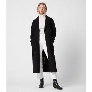 AllSaintsHazel 羊毛大衣