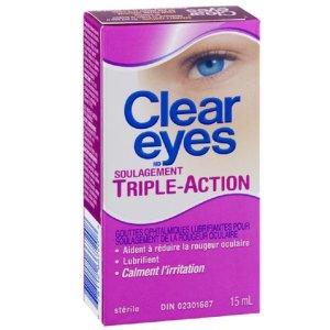 $4.64(原价$6.99)史低价:Clear Eyes 去红滋润舒缓强效滴眼露