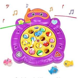 €9.99  (原价€21.85)HCHENG 儿童电动音效钓鱼玩具套装