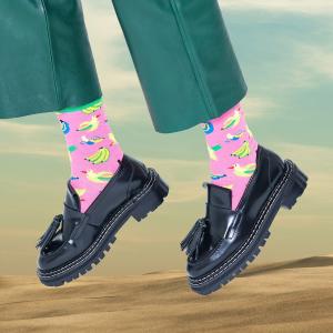 3双低至€21 男女款都有Happy Socks 袜子热卖 趣味搞怪萌袜 搭配凹造型必备