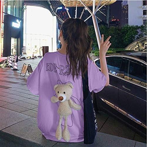 紫色背后小熊T恤