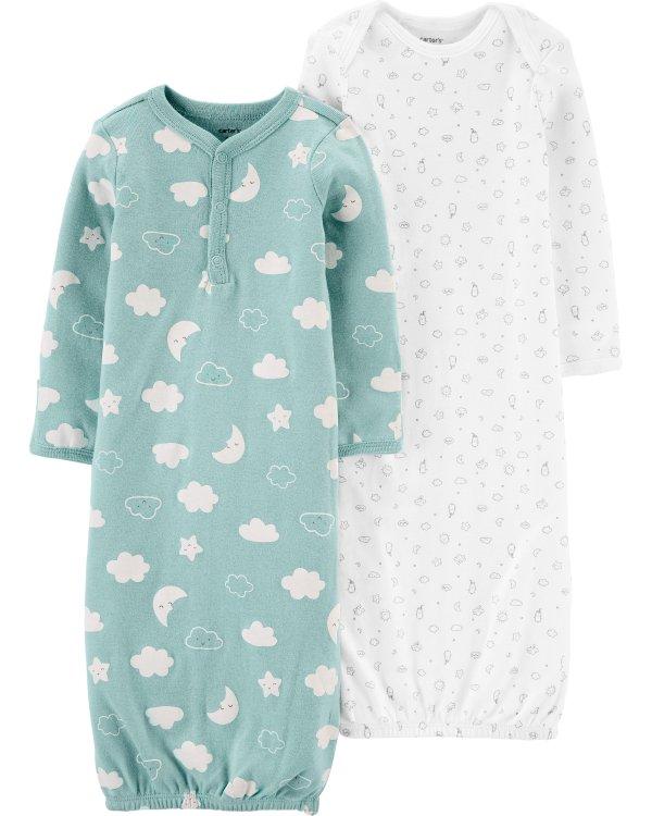 婴儿睡袍2件套