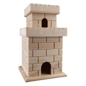 Castle Wooden Birdhouse by ArtMinds™