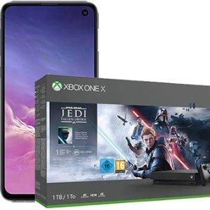 包月电话+6GB LTE 月租仅26.99一次性购机费99欧送三星s10e+Xbox One X 1TB Star Wars