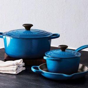 低至5.4折 £89收1.8L铸铁锅史低价:LE CREUSET 酷彩铸铁锅 多种颜色热卖中
