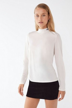 Urban Outfitters Stussy Anna Mock-Neck Long Sleeve Tee