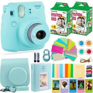 Fujifilm Instax Mini 9 Instant Camera + Accessories Bundle