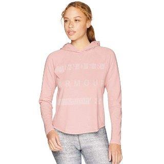 $12.22(原价$45)Under Armour 女士连帽卫衣 粉色