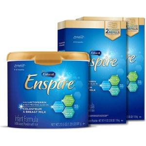 婴儿0-12个月Enspire配方奶粉1罐+2个补充装共 102.5 oz