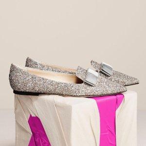 4.5折起  绝美闪钻凉鞋$303Jimmy Choo 美鞋闪促 气质女孩必备 亮片渐变系列、收封面款