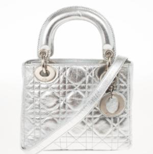 Christian Dior Metallic Silver Micro Lady Dior Bag - Buy & Sell  - LC