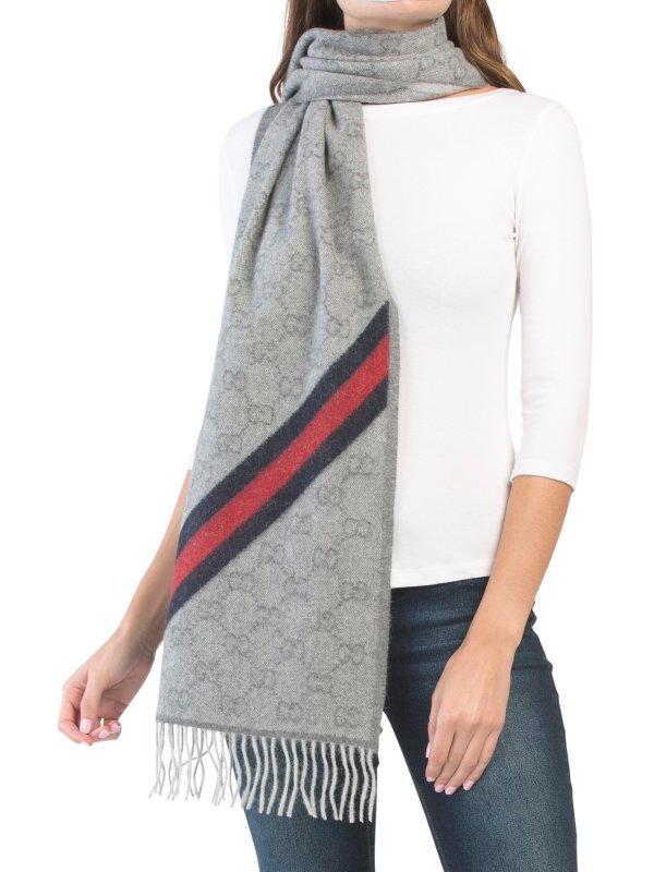 古驰羊毛围巾