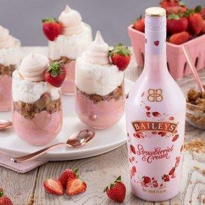 折后€13.99 喝了就会变可爱Baileys 百利甜草莓限定酒 女生都爱的威士忌酒