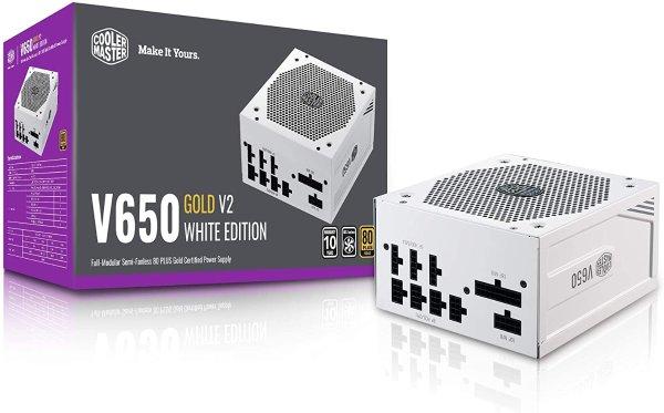Cooler Master V650 Gold V2 白色特别版 80+金牌 全模组电源