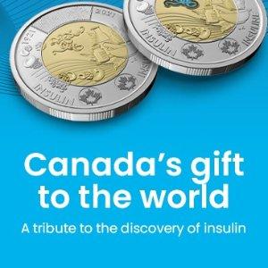 7月13日发行 你收到了吗加拿大皇家铸币厂全新纪念版$2硬币 加国给全世界的礼物