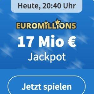 周二/五开奖 2注机会只要€1EuroMillions 彩票奖金累计1700欧元 试一试单车秒变摩托