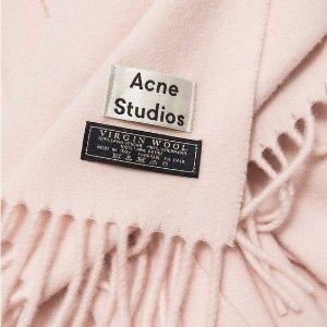 8.5折+免税 羊毛围巾$153  帽子$65Acne Studios 围巾、卫衣、笑脸帽等热卖