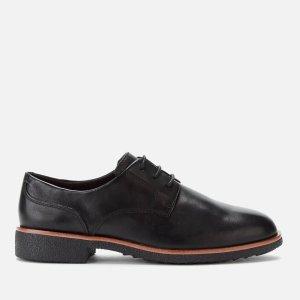 Clarks复古拼色牛津鞋