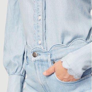 低至6折 Sandro$100Saks官网 宫廷风唯美衬衫热卖 收封面款