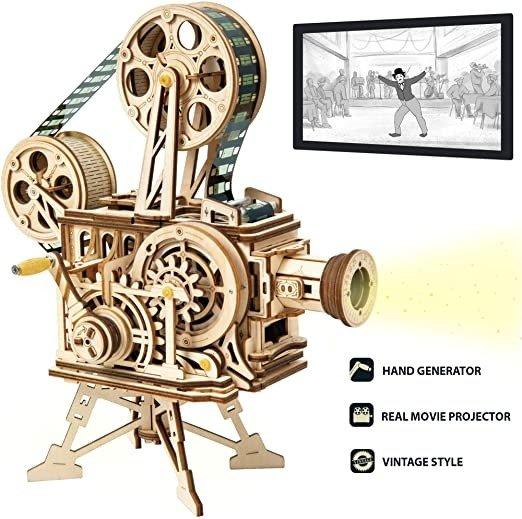 3D 木制拼图-老式放映机