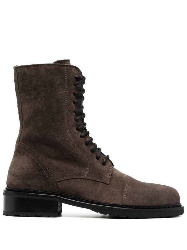麂皮骑士靴