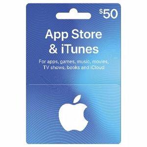 Apple iTunes 礼品卡 $50