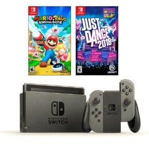$399.96超划算! Nintendo Switch 游戏机+赠2套热门游戏