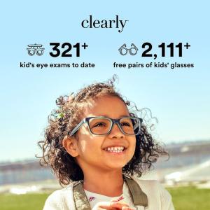 买一送一 眼镜$9起Clearly 白菜价眼镜 儿童配镜无费用 无需处方 保险可报销