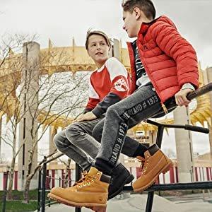 低至5折 $68收经典工装靴牛年大吉:Timberland 儿童雪地靴特卖 大童款成人可穿