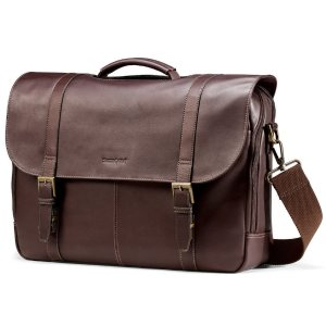 $59.99 Samsonite Colombian Leather Flap-Over Laptop Case