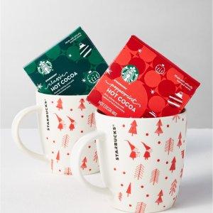 $10.46起Starbucks 多款节日款杯子饮品礼盒 限时促销