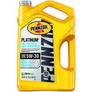 $25.97(原价$48.97) 3款可选史低价:Pennzoil Platinum 0W-20/5W-20/5W-30 全合成机油 5升