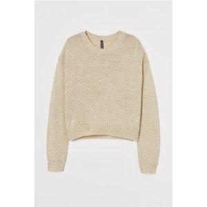 H&M新款也参加~针织毛衣