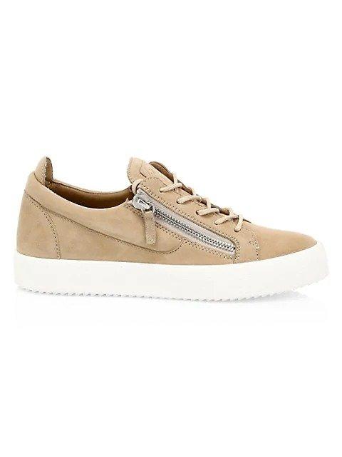 麂皮运动鞋