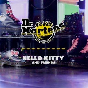 一律9折 大童款35码有货上新:Dr. Martens x HelloKitty 联名款马丁靴发售 甜美朋克范上线