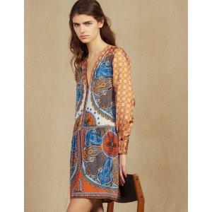 SandroShort printed shirt dress