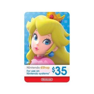 Nintendo$35礼卡
