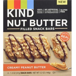 $15.84KIND Nut Butter Filled Bars, Creamy Peanut Butter, 32Count