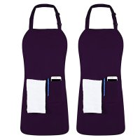 Utopia Kitchen 简约带口袋围裙2件装  可机洗