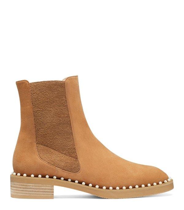 CLINE 珍珠切尔西靴