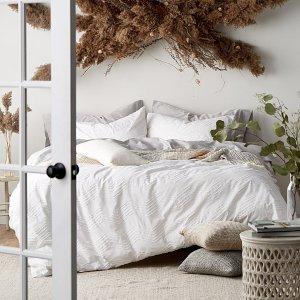 低至4折+满额减$25Simons白色床品热卖 白色控看过来 极度舒适慵懒风