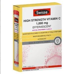 $16.49(原价$32.99)美白祛斑Swisse 高浓度泡腾片VC 60粒装 增强免疫力